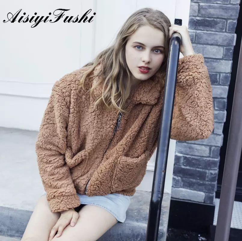 Red Faux Fur Coat for Women, Short Teddy Jacket, Solid, Zipper, Plus Size, Black Faux Fur Coat, Comfortable Fluffy Jackets, 2020
