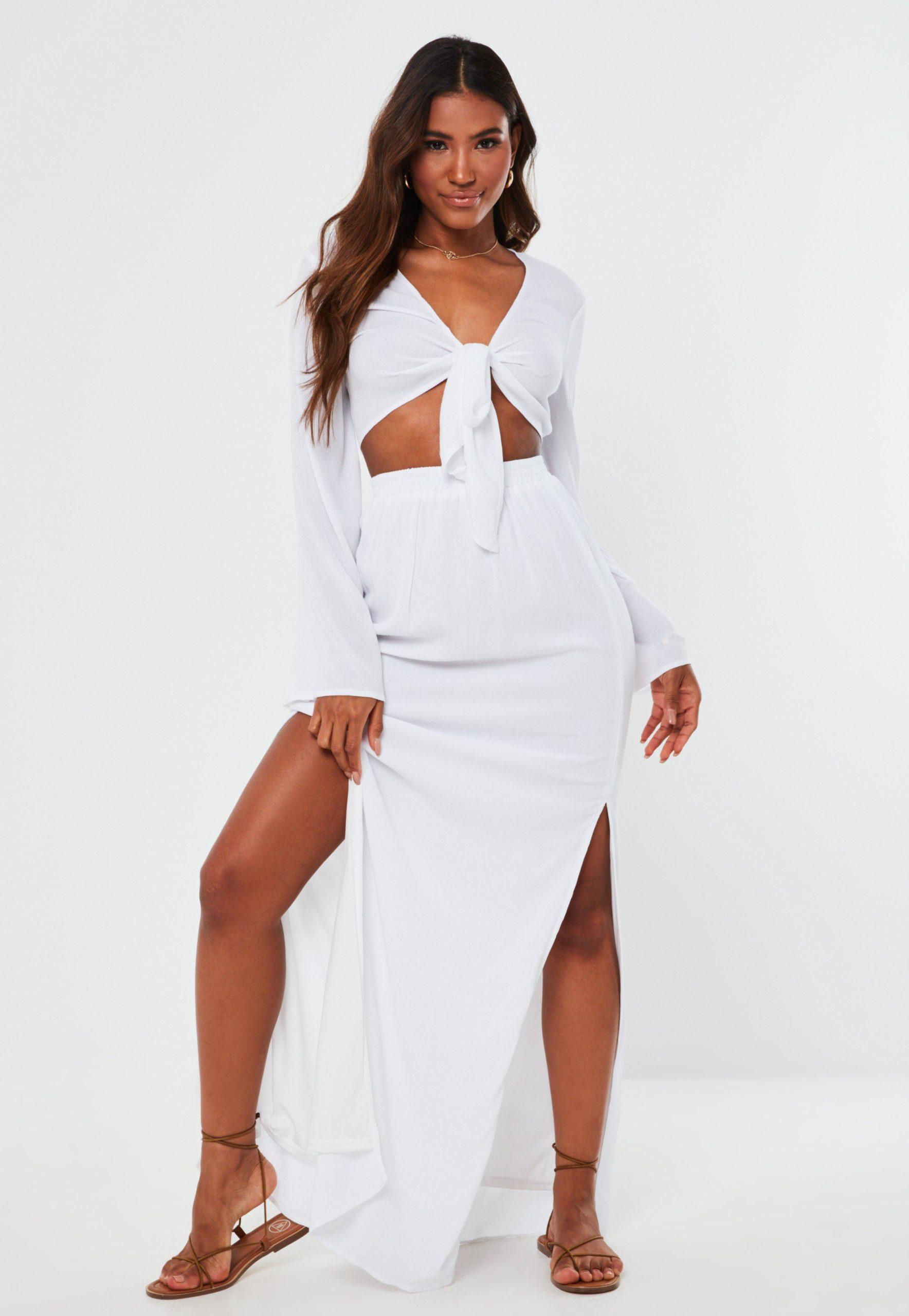tall white maxi skirt