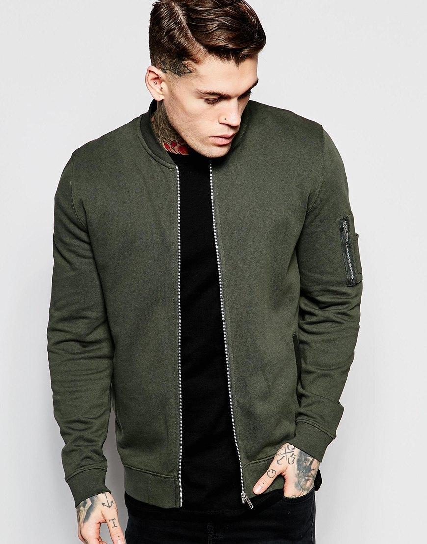 stylish bomber jacket.