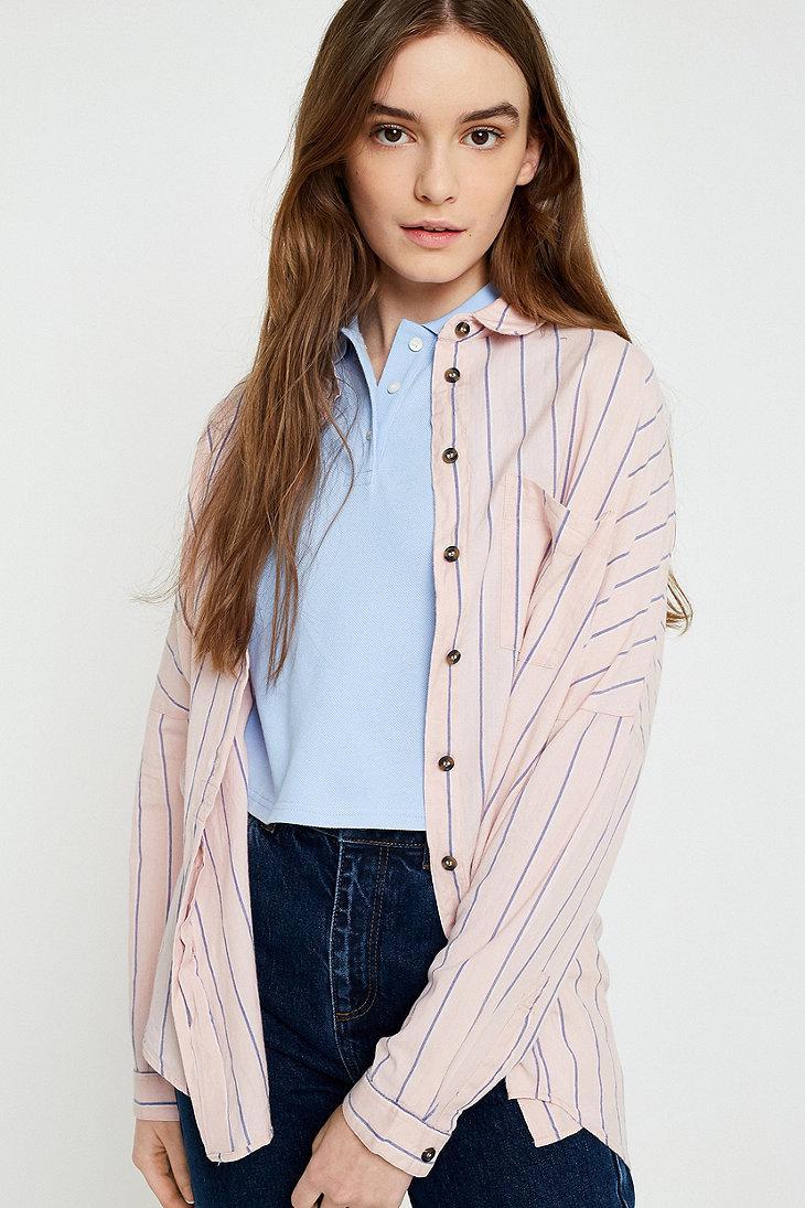 striped button-down shirt women
