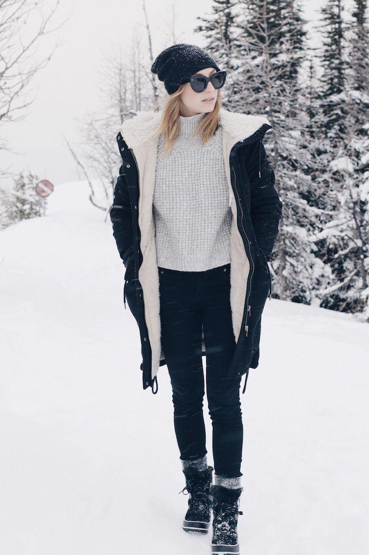women's snowsuit with black boots