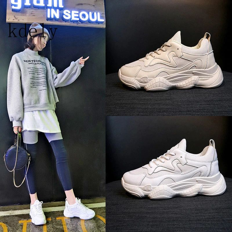 2019 New Style Autumn Platform buffalo Shoes Women Casual Sneakers Round Toe Flats Zapatillas Mujer size35-40