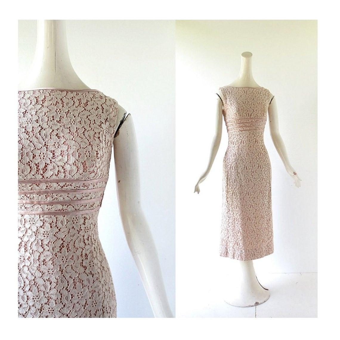 50s Lace Dress | Interlude | 1950s Dress | XS