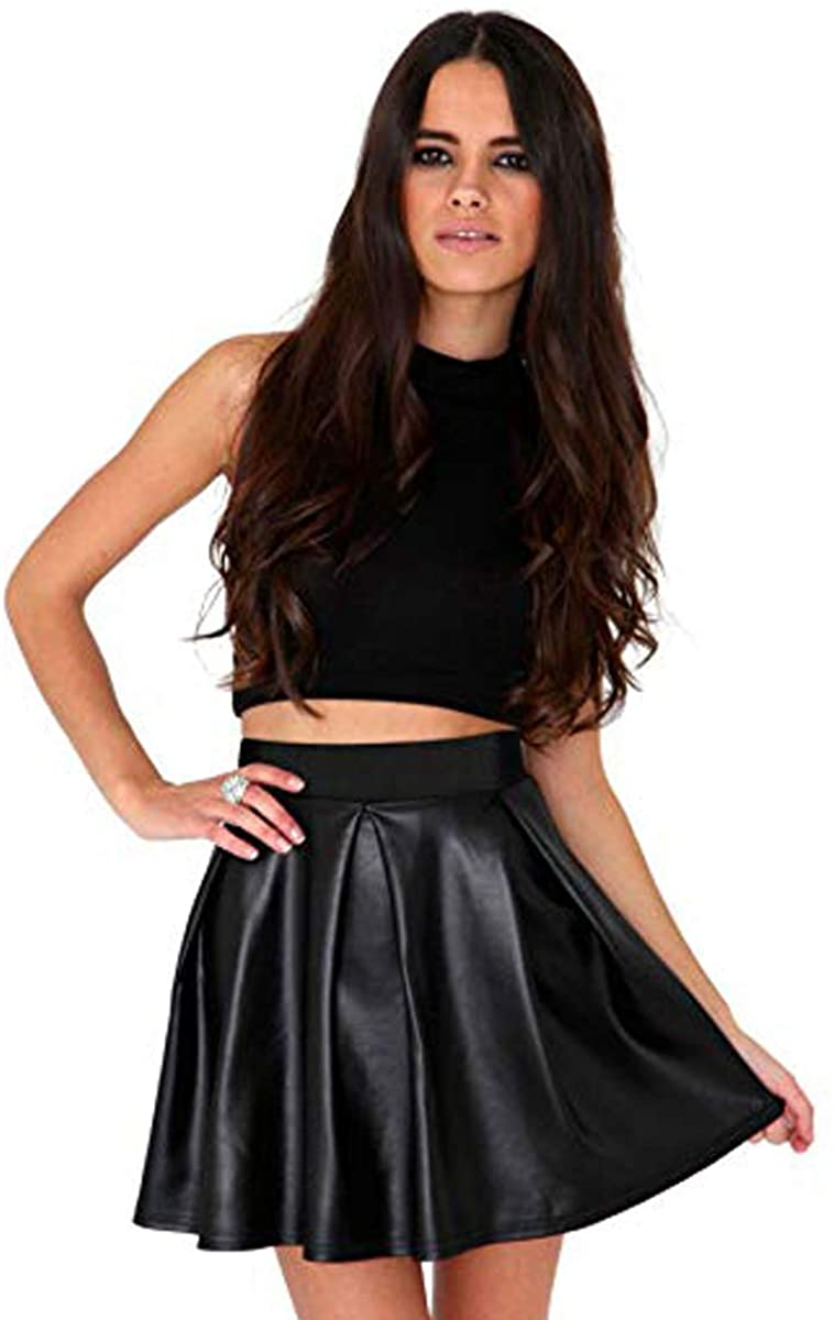 Short Black Skater Skirt