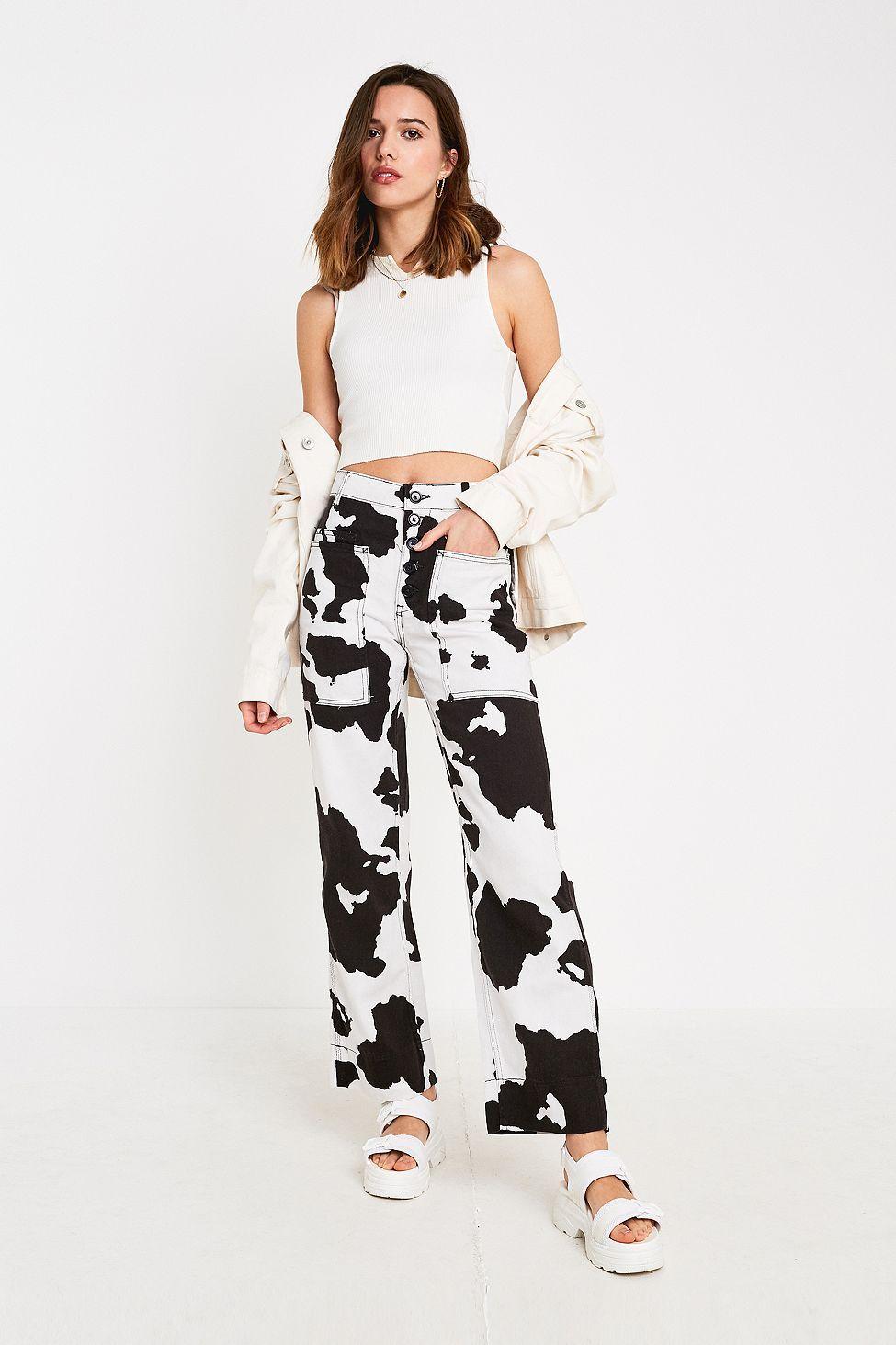 Cow Print Jeans