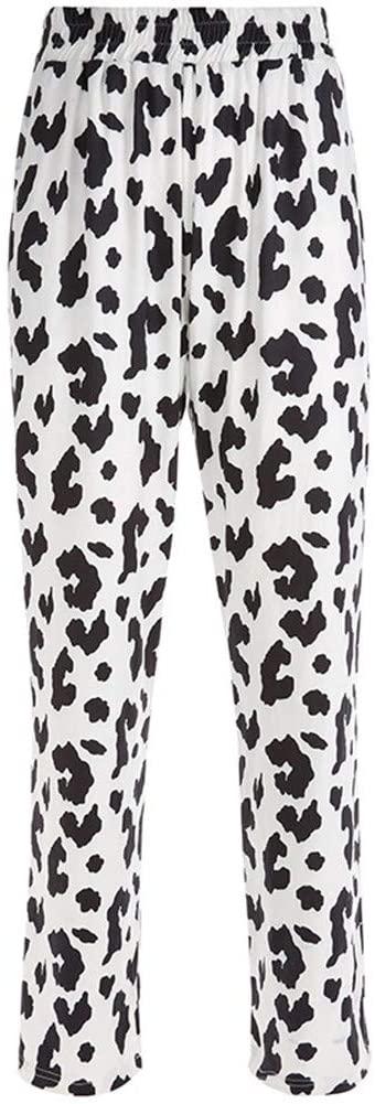 Women's Fashion Cow Print Straight Pants