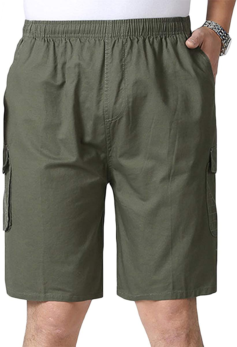 Allthemen-Shorts-Straight-Multi-Pocket-Sweatpants