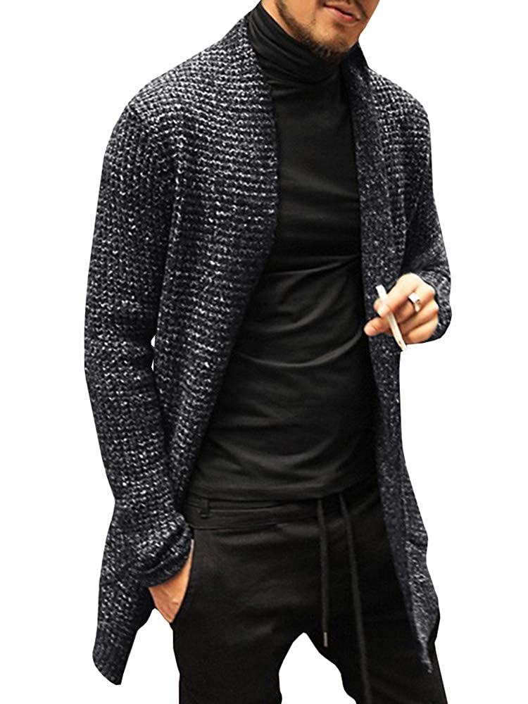 Long black cardigan.