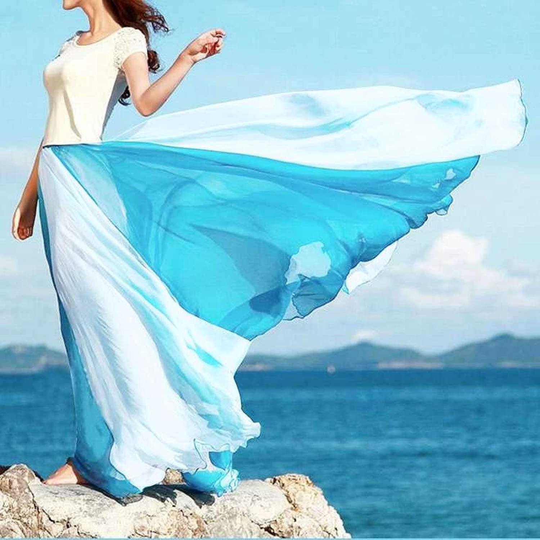 ZJMIYJ Skirts For Women - Bohemian Patchwork Elastic Waist Beach Skirts
