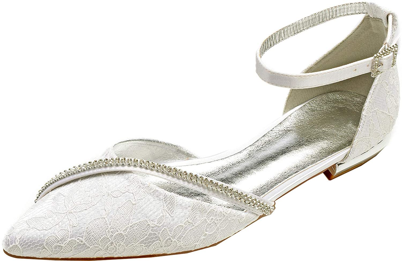 Womens Piont Toe Pumps Flat Dress Shoes