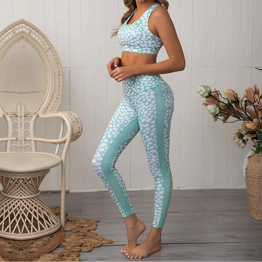 2 Pieces Yoga Leggings Top
