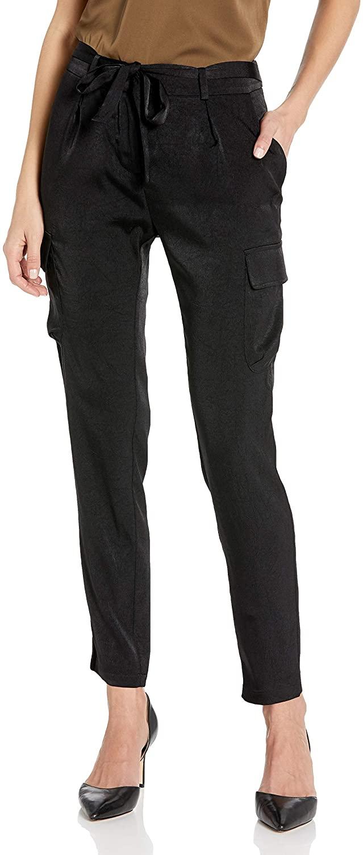James Jeans Women's Shelby Slim Slouch Tie Waist Cargos
