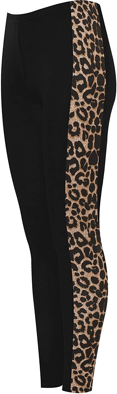 WearAll Women's Print Side Stripe High Waist Leggings