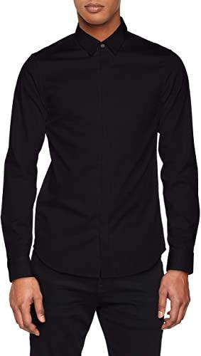 Men's Smart Stretch Satin Casual Shirt