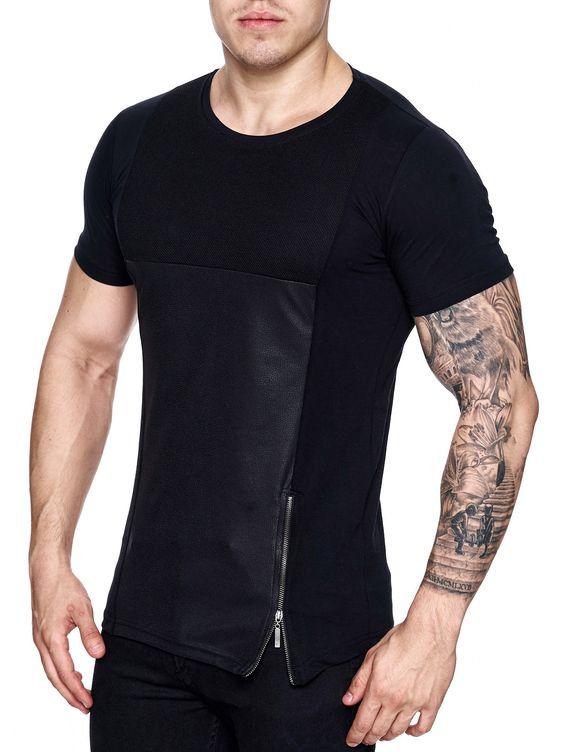 side zip t-shirt