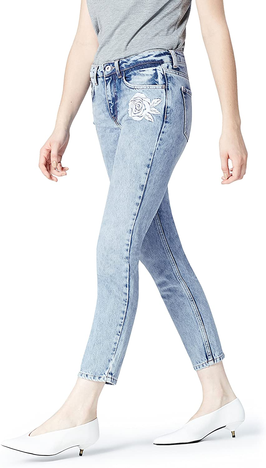 Women's Slim Mid Rise Embroidered Jeans