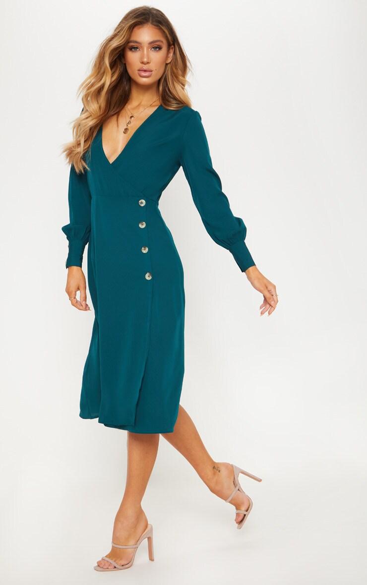 Green midi dresses