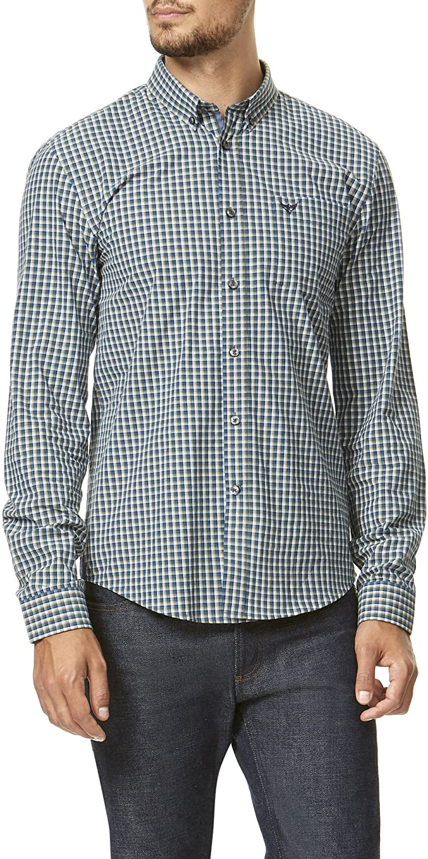 Men's Fine Check Poplin Cotton Shirt