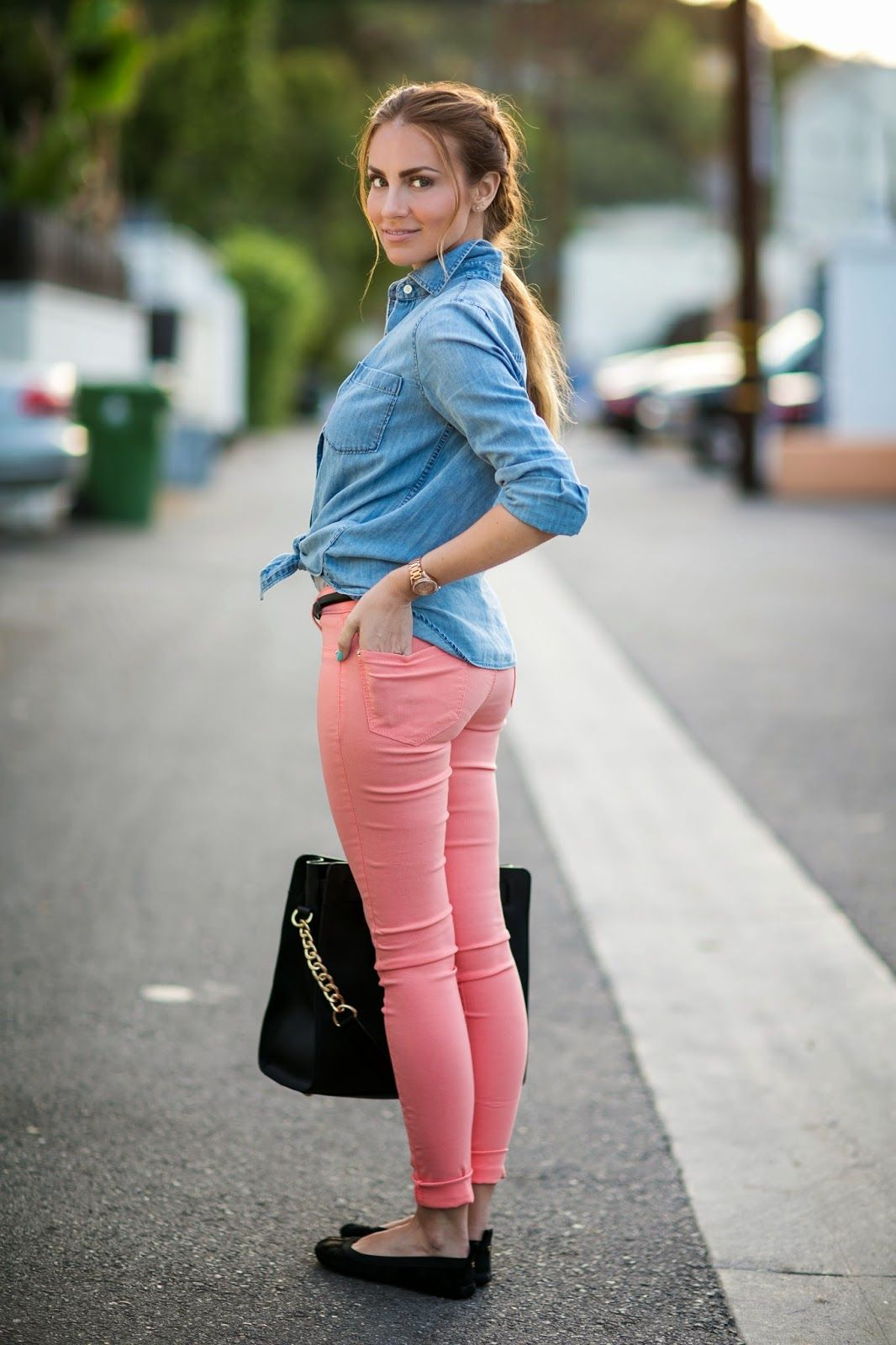 pastel skinny jeans