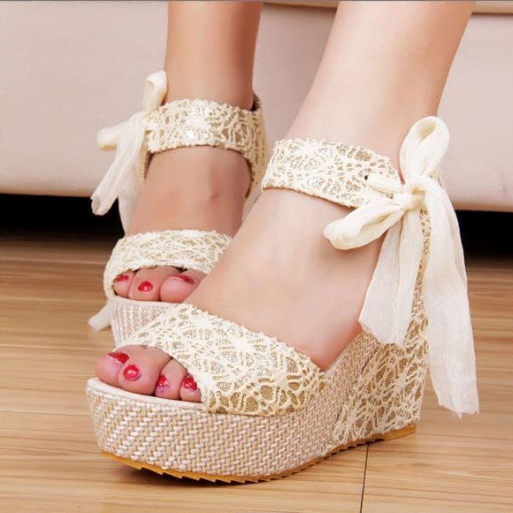 Platform Sandals with Ankle Strap
