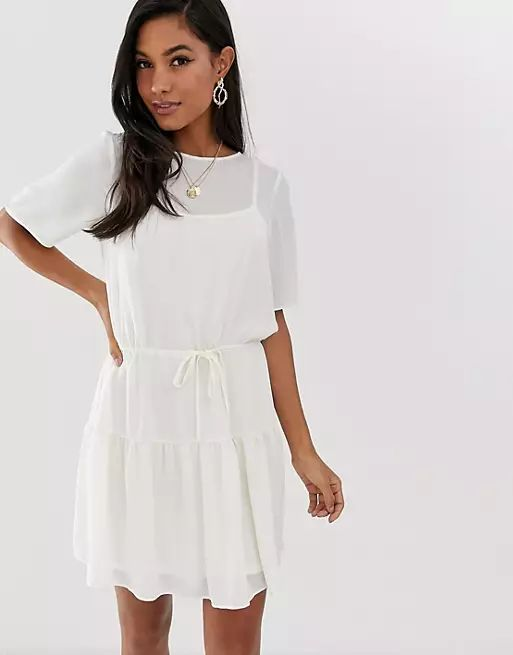 ASOS DESIGN tiered mini dress