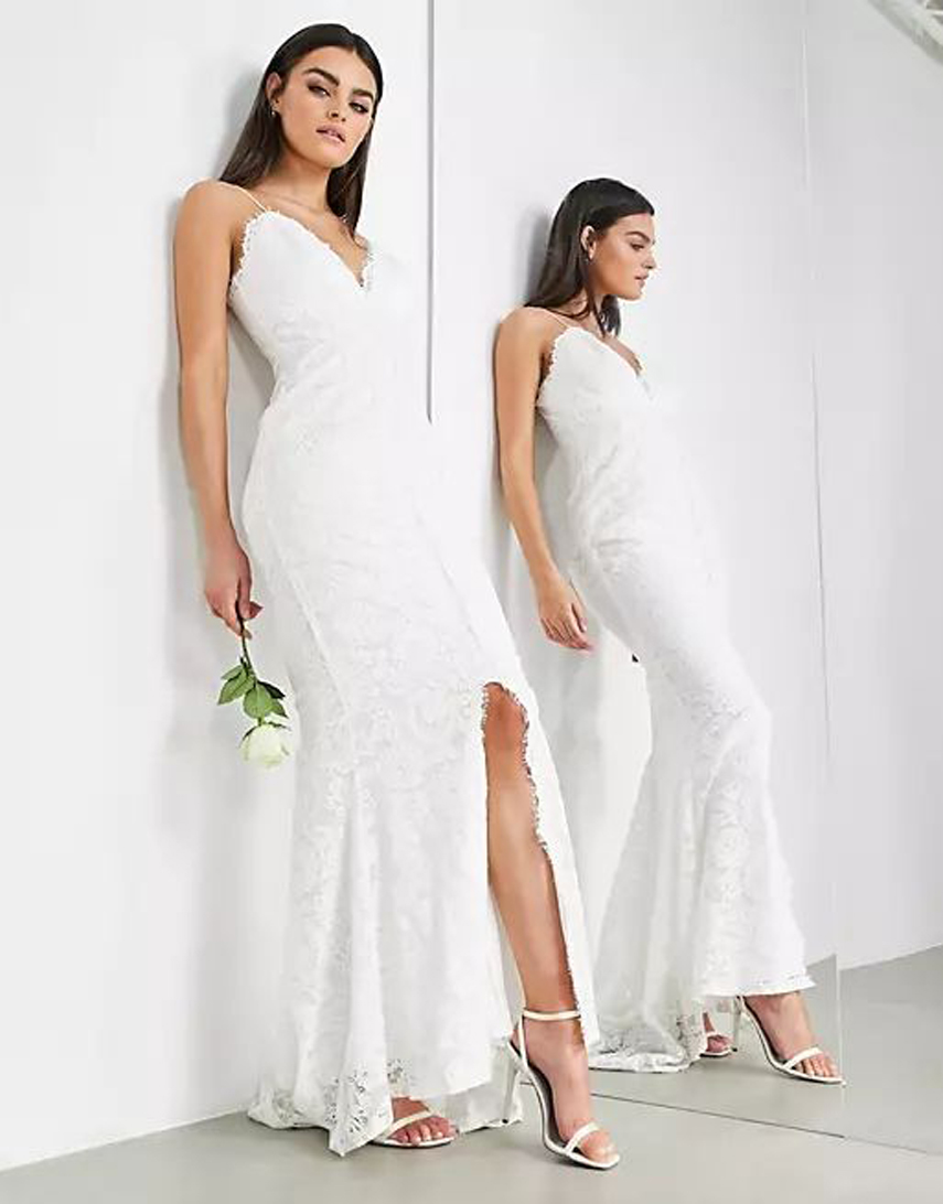 ASOS EDITION Angelina lace cami wedding dress