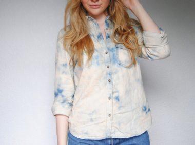 Acid Washed Denim Shirt For Summer