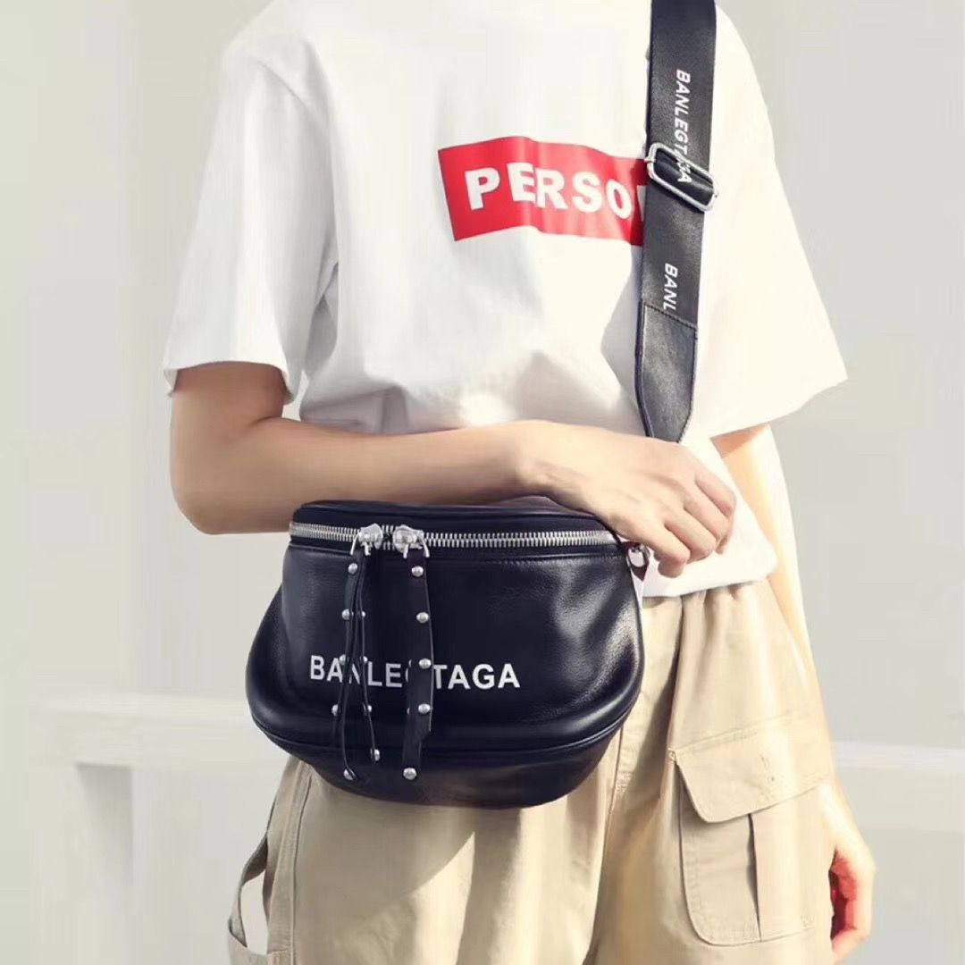 Balenciaga woman man cross body pochette bag