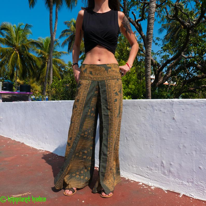Beautiful Patterned Trousers, Palazzo Pants // Bohemian Pants // Hippy Trousers // Chic Pants // Yoga Trousers // Music Festival Pants
