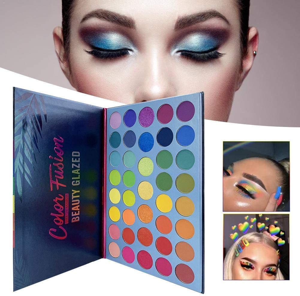 Beauty Glazed 39 Colors Eyeshadow Powder Palette Glitter Shiny Golden Eyeshadow Highly Pigmented Shimmer & Matte Metallic Waterproof Smooth Powder Natural Brilliant Eye Makeup Palettes