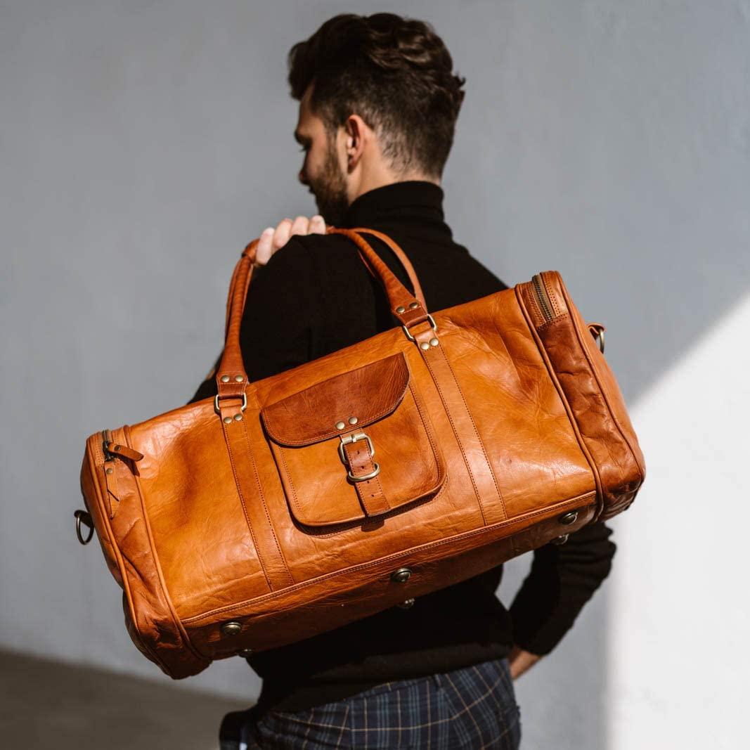 Berliner Bags New York L Leather Travel Gym Sport Bag