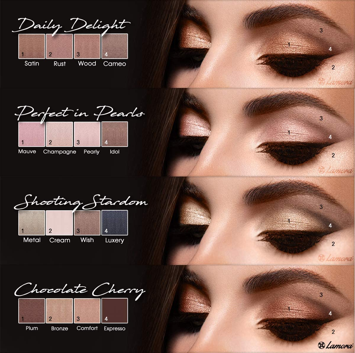 Many models will have a couple of different shades of eyeshadow to change them up easily. When it comes to fashion and makeup, your eyes are your crowning glory. Some of these models on several different makeup brands, but one of the most popular brands for women is the Estee Lauder Magic Makeup Art palette.