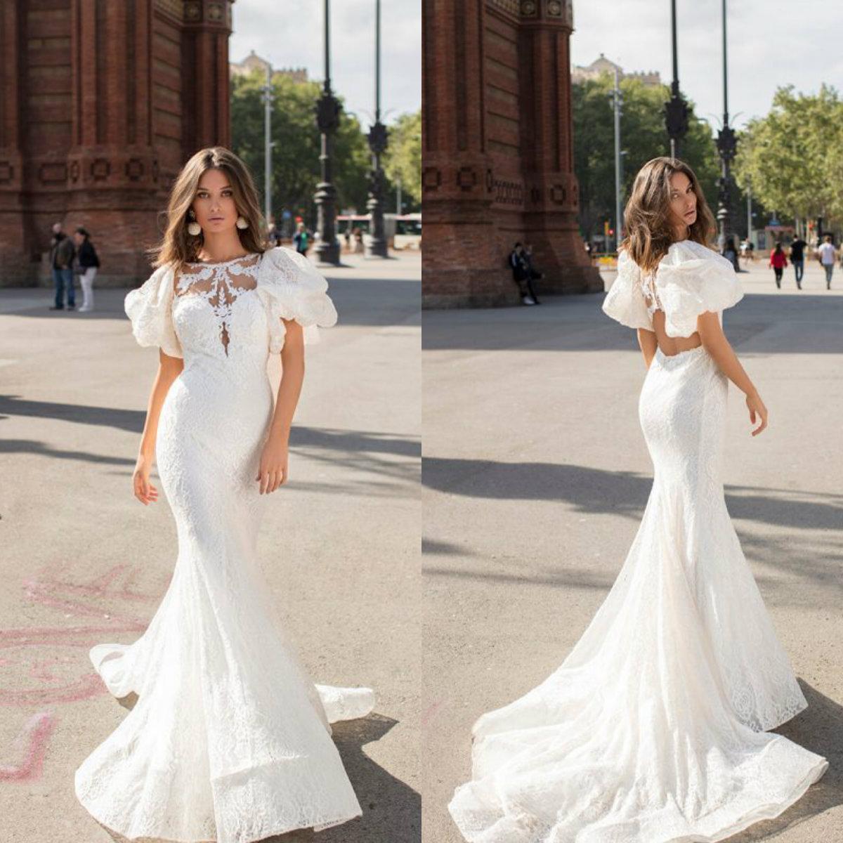 Bohemian Mermaid Wedding Dresses