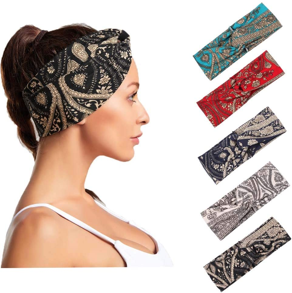 Bohend Boho Headbands Black Criss Cross Hair Bands