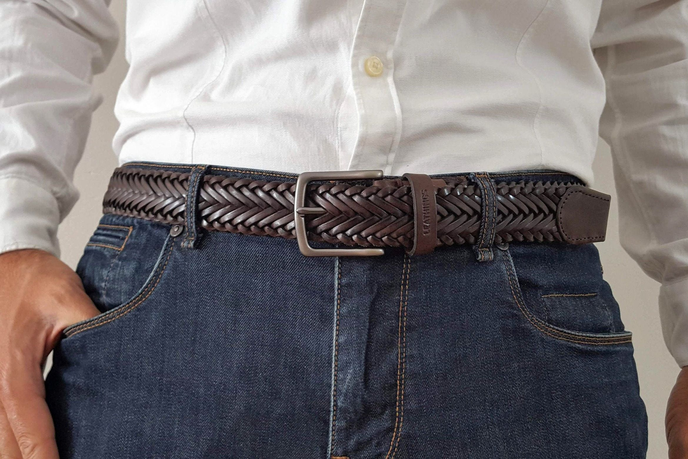 Braid Belt Full Grain Braided Leather Belts