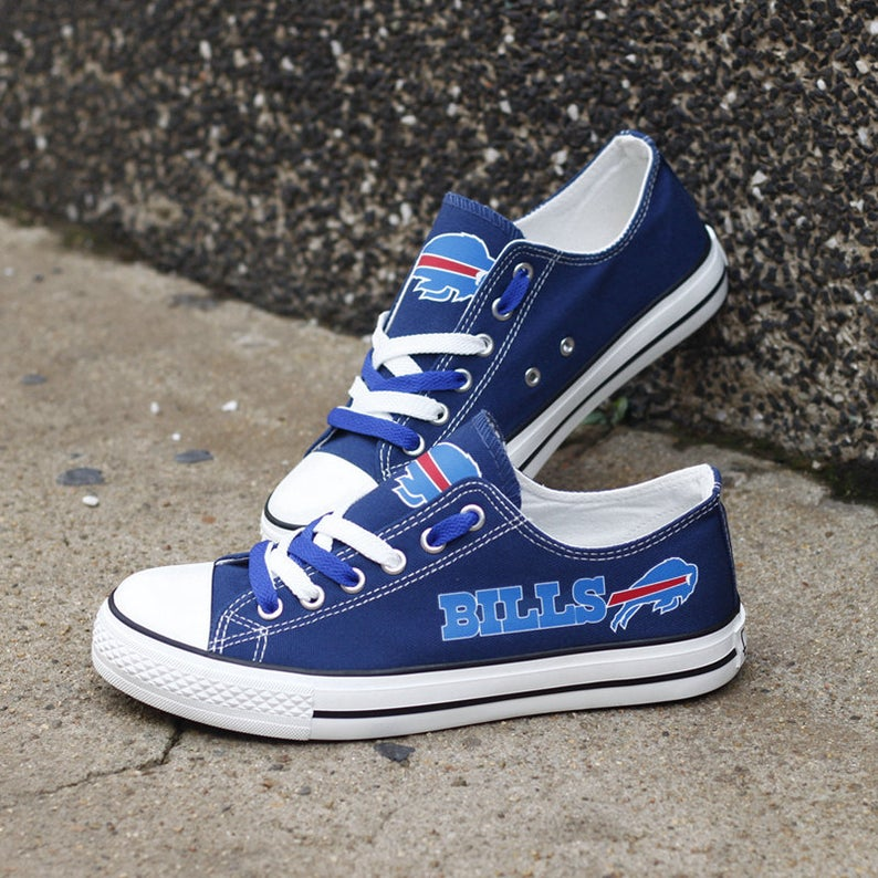 Buffalo Bills Low Top Shoes, Shoes for NFL fans, Football Team Sneakers , Run Casual Shoes, NFL Xmas Shoes, Birthday Gift