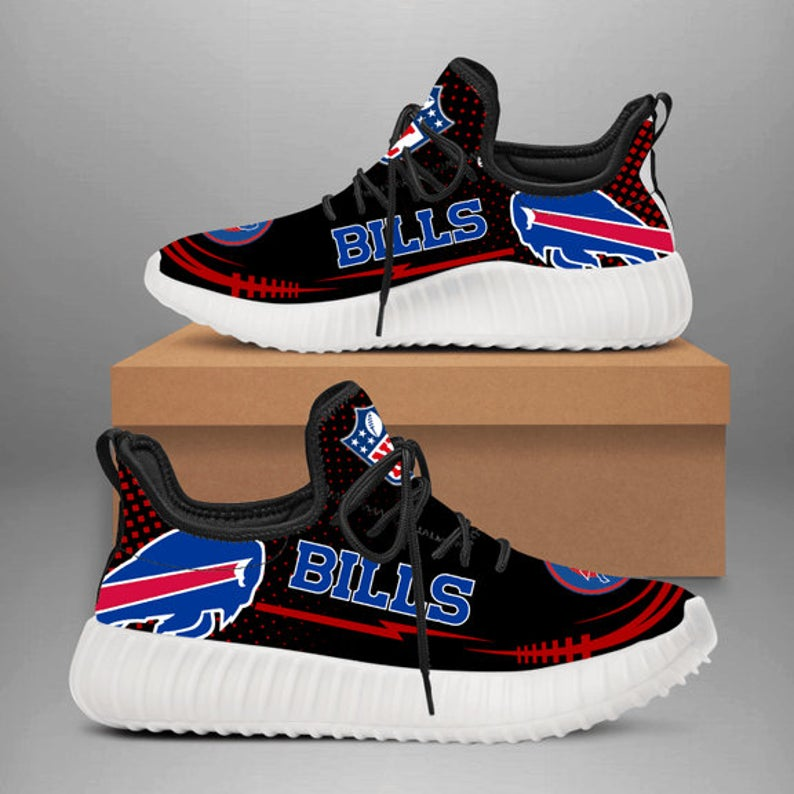 Buffalo Bills Yeezy Boost 350 , Buffalo Bills NFL Yeezy Sneakers Shoes, Custom Yeezy Shoes Hype beast Shoes Athletic Run Casual Shoes Y223