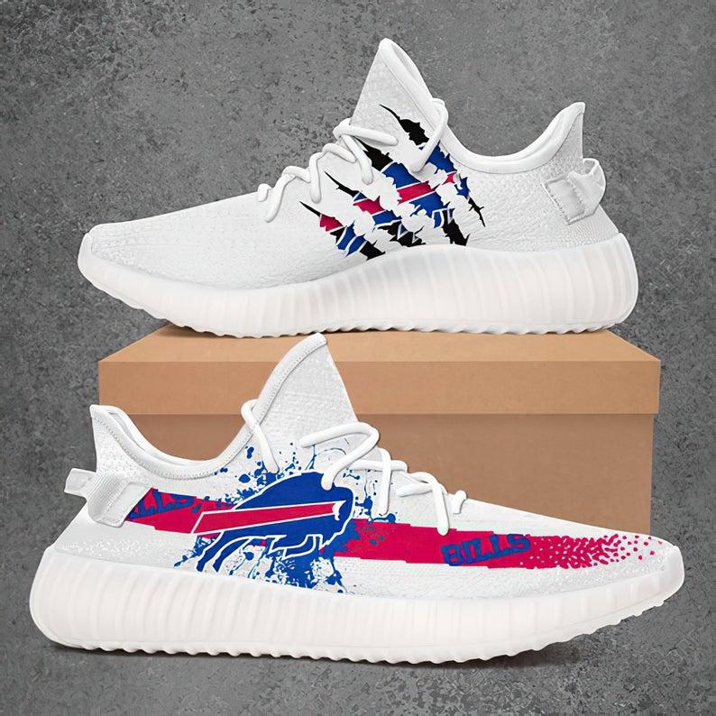 Buffalo Bills Yeezy Boost 350, Buffalo Bills Yeezy Style Sneakers, Buffalo Bills NFL Football Team, Athletic Run Casual Shoes