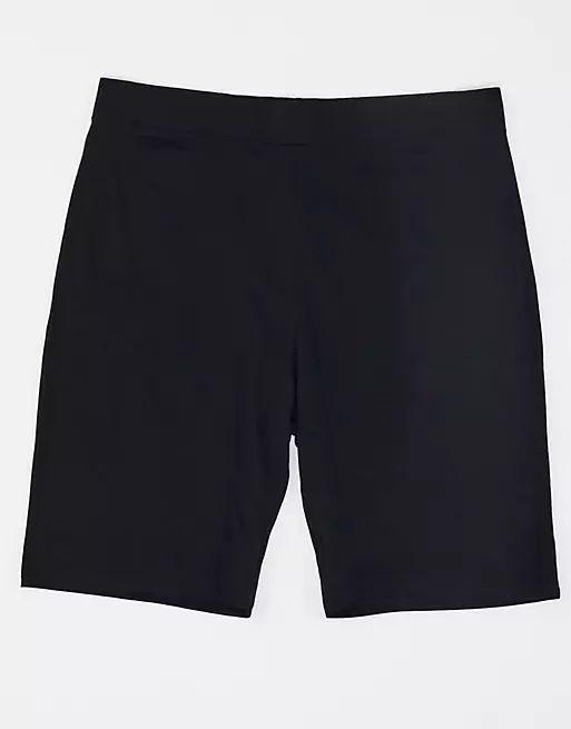COLLUSION Plus high waist legging shorts