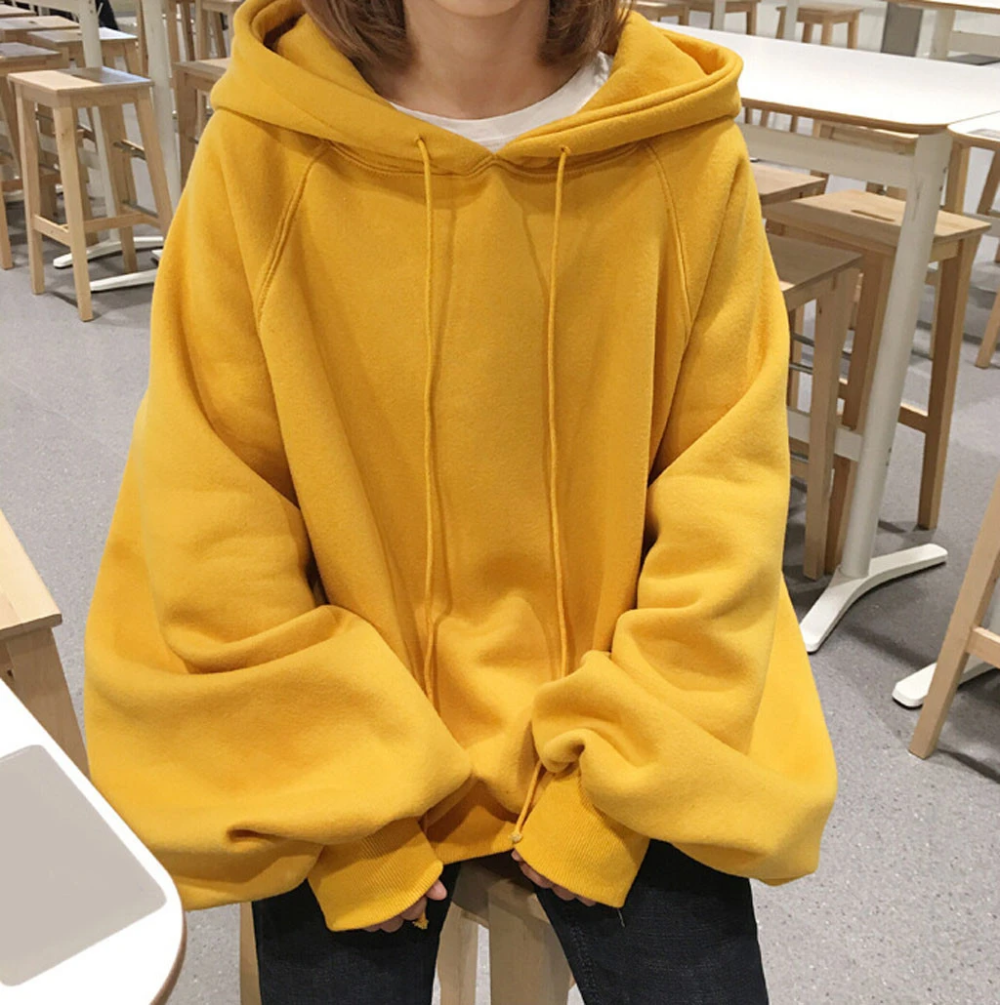 Chic Solid oversized hoodie