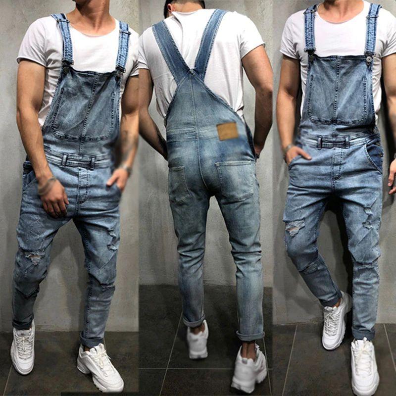 Men's Jeans Streetwear Men Dungarees