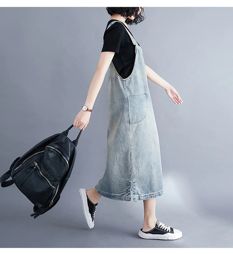 Overalls Denim Suspender Dress