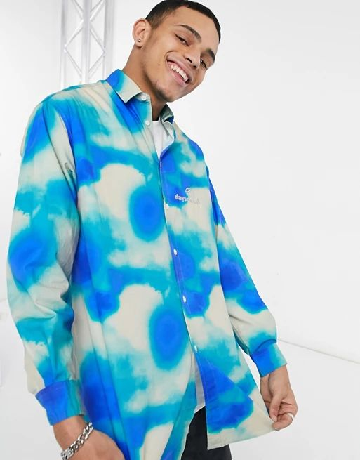 Tie dye oversized shirt in green
