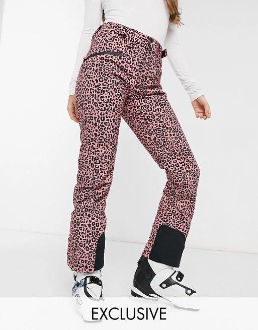 Protest Kenstah ski pant in cheetah pink