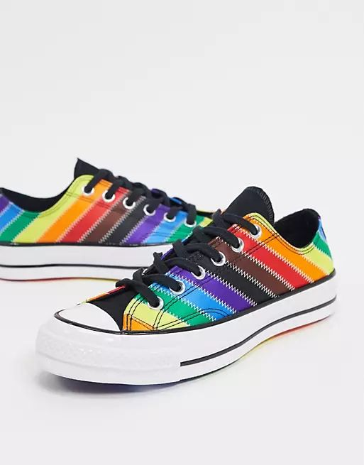 Converse Chuck 70 Ox rainbow sneakers in multi