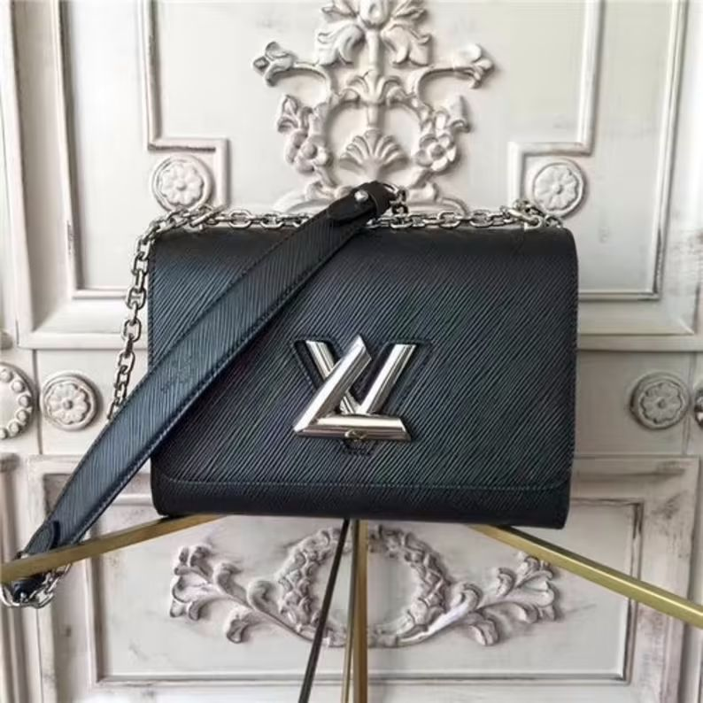 Luxury Bag Louis V Twist MM Noir