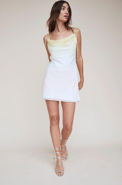pastel cowl neck slip dress
