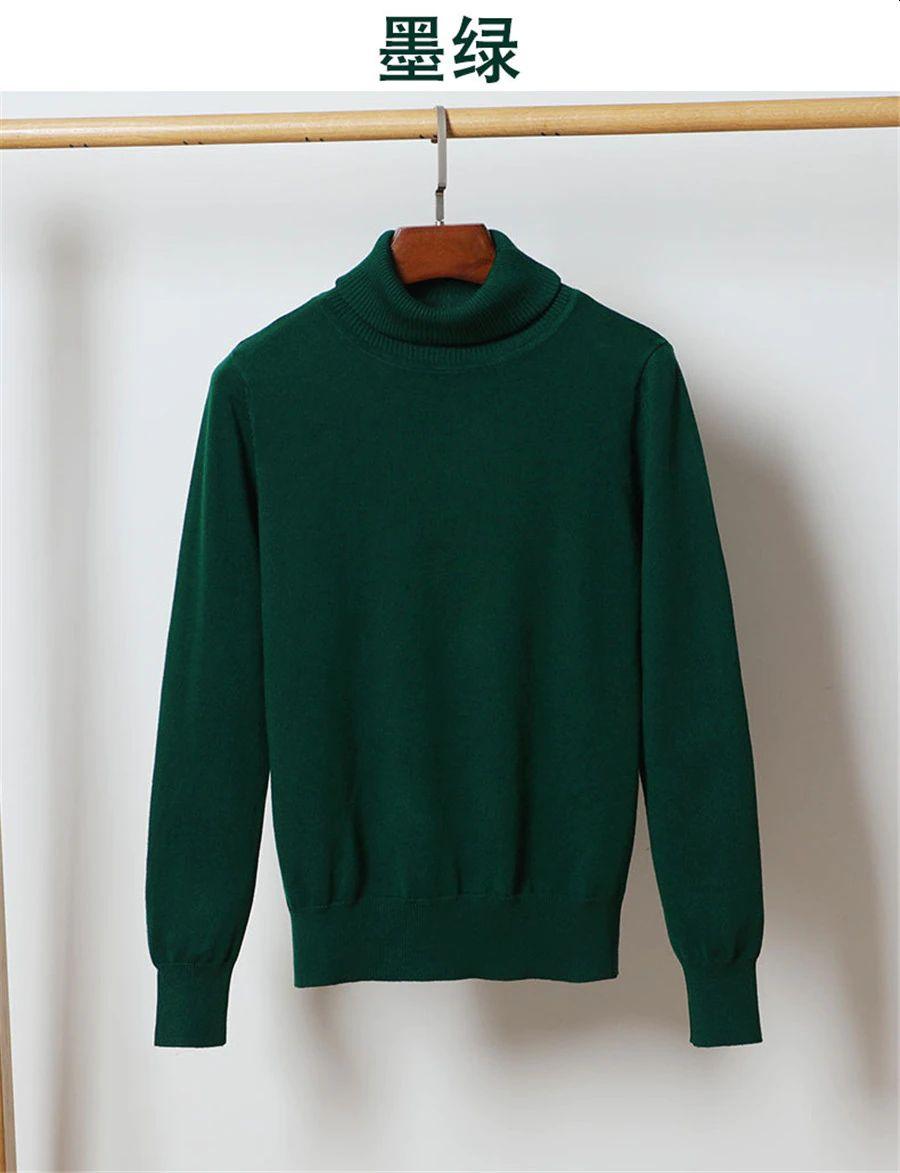 Turtleneck Green jumper