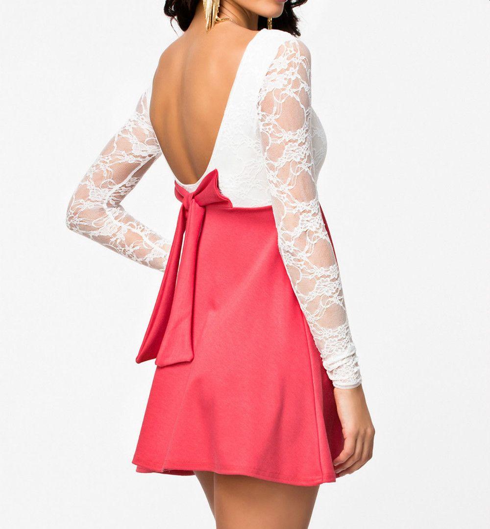 Cute Bow Back Elegant Casual Dress