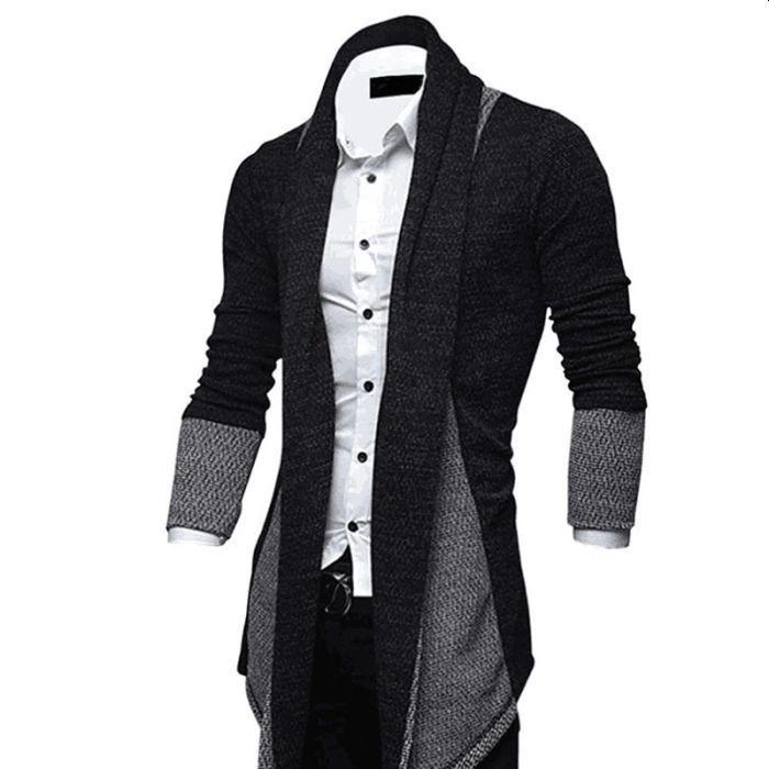 Long Sleeve black Knitted Cardigan